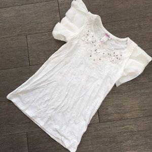 Justice girls white shirt blouse 6